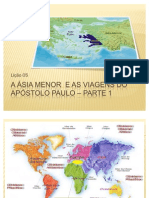 A Ásia menor  e as viagens do apóstolo