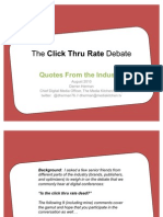 The Click Thru Rate Debate