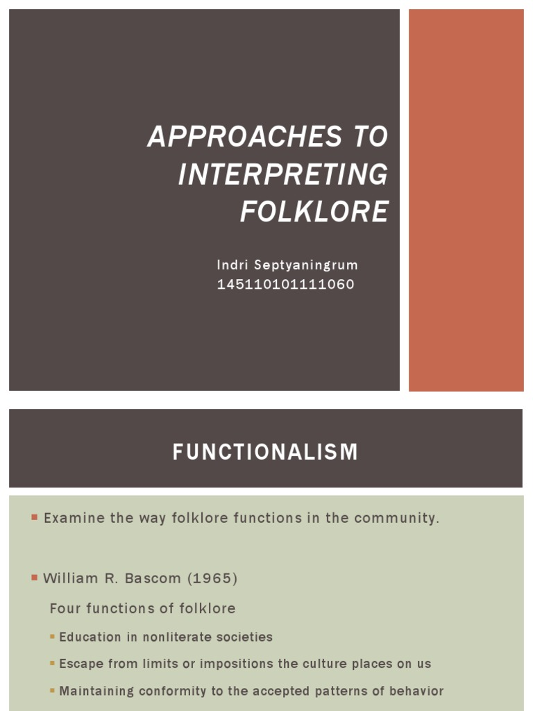 functions of folklore