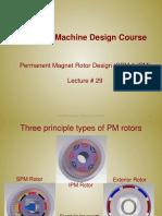 Lecture29 - Permanent Magnet Rotor Design (SPM & IPM)