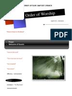 Order of Worship 08 29 2010 v1