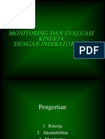 Monitoring Dan Evaluasi Kinerja