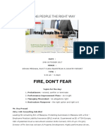Training HR Firing People the Right Way