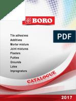 BORO Products Catalogue