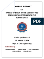 B.TECH CIVIL PROJECT (REUSED OF CLAY BRICKS)