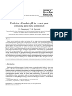 Prediction of Leachate PH for Cement Paste Containing Pure Metal Compounds