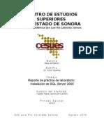 Reporte de práctica de laboratorio Instalación de SQL Server 2005