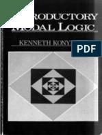 Kenneth Konyndyk - Introductory Modal Logic