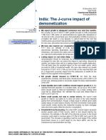CS - India - The J-curve Impact of Demonetisation