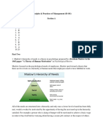 Principles and Practices of Management_AnswerSheet