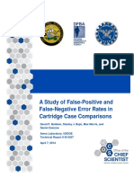 A Study of False-Positive and False-Negative Error Rates in Cartridge CA...