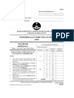 Kertas 2 Sejarah - Percubaan MPSM 2016