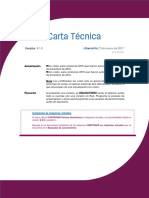Carta Tecnica Factura Electronica 410
