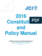 2016 JCI Constitution and Policy Manual