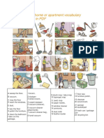 Cleaning Your Home Apartment Vocabulary PDF