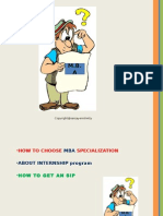 How to Choose Specialization
