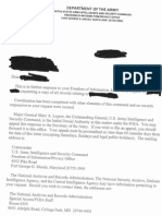 INSCOM Letter Recommending the National Security Archive