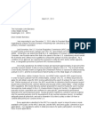 Read letter to Barrasso