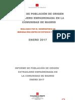 Informe de Poblaci-n Extranjera Enero 2017