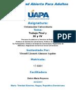 Unidad III y IV Yirandi Almanzar Orientacion Universitaria