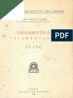 Veccia Vaglieri - Grammatica Elementare Di Arabo
