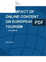 THE IMPACT OF ONLINE CONTENT ON EUROPEAN TOURISM