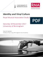 Identity and Vinyl Culture Programme
