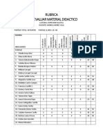 Rubrica Para Evaluar Material Didactico