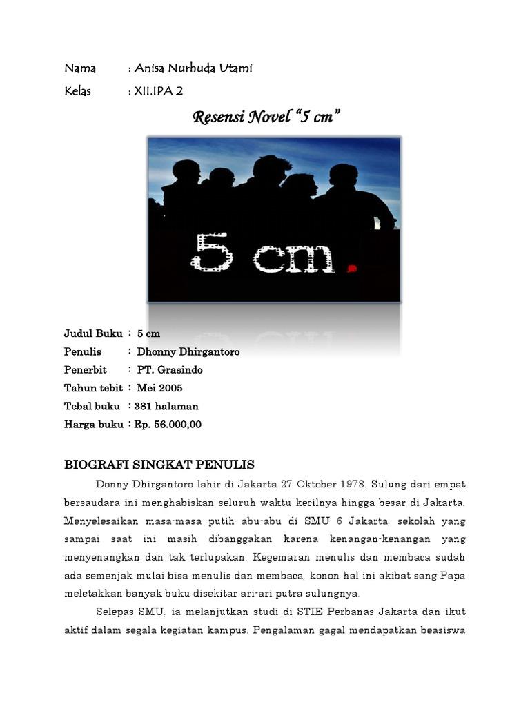 Resensi Novel 5cm