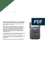 Manejo Calculadora Kadio (y Similares)