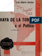 Sanchez - Haya de La Torre o El Político
