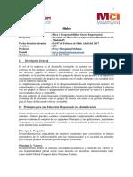 160826 - MCI OPE - Ética y Responsabilidad Social Empresarial