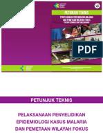 Buku Petunjuk Teknis Penyelidikan Epidemiologi Malaria Dan Pemetaan Wilayah Fokus (Daerah Eliminasi Dan Pemeliharaan)