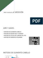 Métodos de Medición