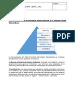 Estructura documental del Sistema de gestión Ambiental de la empresa Calzado Chosica S.docx