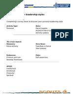 07S Leadership Styles