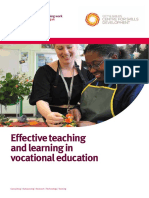 Effective Teaching and Learning in VE Report