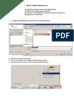 SOP for Mailbox Maintenance