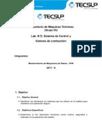 Informe 3 , Sistema de Control y Combustion