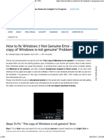 Fix Windows 7 Not Genuine