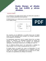 5 El Diodo Zener, El Diodo Emisor de Luz (LED) y Otros Tipos de Diodos