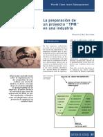 """La Preparación de Un Proyecto """"TPM"""