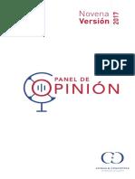 Estos son los resultados de la novena versión del Panel de Opinión 2017