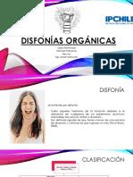 DISFONIA ORGANICAS