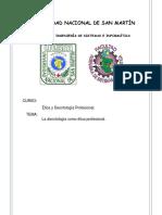 La Deontología Como Ética Profesional - Semana 8