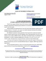 PRESS RELEASE_Reestablishment of the League of Women Voters USVI St. Croix Unit Genevieve Whitaker