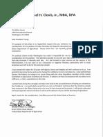 Sam Clovis Letter