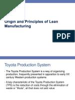 MSAI 01 - Origin and Principles of Lean Manufacturing