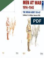 Men at War 1914-1945 No.62. The Indian Army 1914-47. Osprey. Del Prado.
