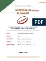 principios del derecho laboral peruano